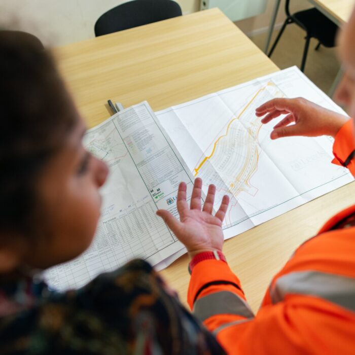 Contractor discusses project plans